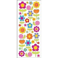 Happy Flowers - Sticko Puffy Classic Stickers