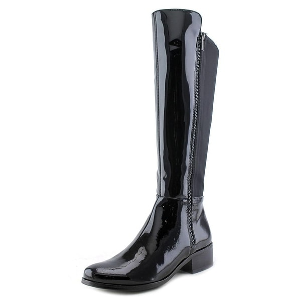 AquaDiva Karen Women Round Toe Patent Leather Knee High Boot