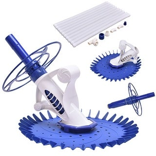 Costway Automatic Swimming Pool Cleaner Set Clean Vacuum Inground Above Ground W/10 Hose