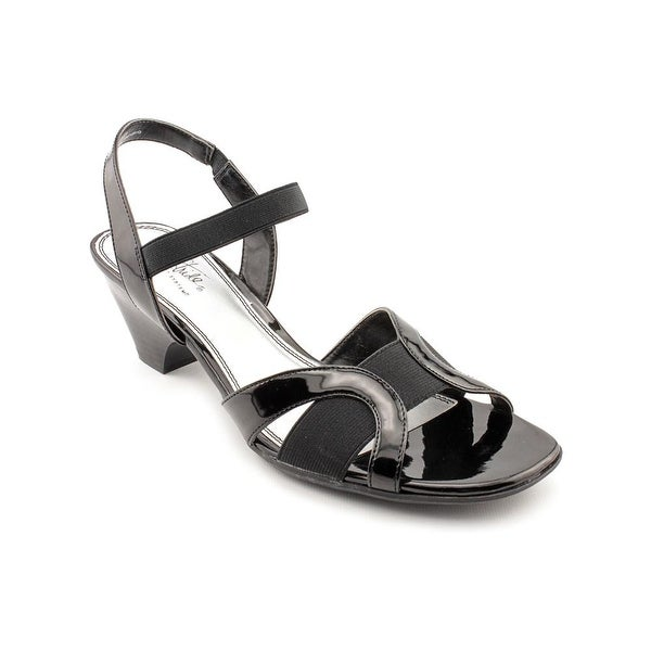 Life Stride Strands Women W Open Toe Synthetic Black Sandals