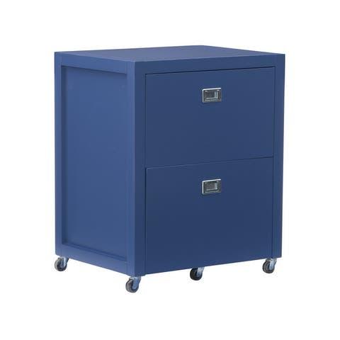 Linon Poppy Rolling File Cabinet