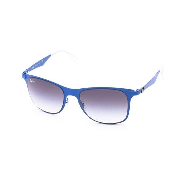 Ray-Ban Wayfarer Flat Metal Sunglasses Blue - Small