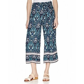 Ella Moss NEW Blue Womens Size Small S Paisley-Print Cropped Pants