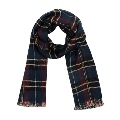 Glitzhome 6?L Cashmere-like Plaid Scarf with Fringes