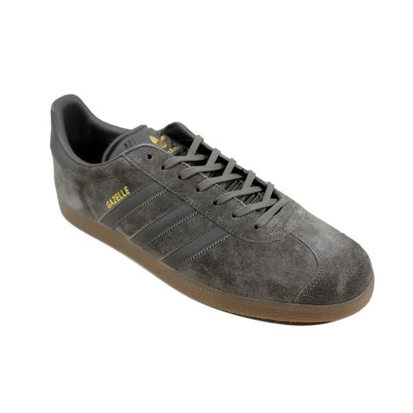 niebla tóxica Agarrar collar  Shop Adidas Gazelle Utility Grey/Utility Grey-Gum BB2754 Men's - Overstock  - 24306134