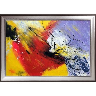 Pol Ledent 'Abstract 96319012' Hand Painted Oil Reproduction