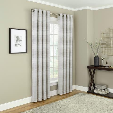 Brielle Home Payson Grommet Blackout Window Curtain Panel