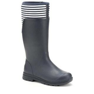 Muck Boot Women's Cambridge Tall Navy/White Stripe Size 6 Premium Rain Boots