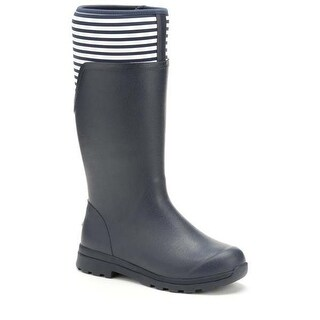 Muck Boot Women's Cambridge Tall Navy/White Stripe Size 9 Premium Rain Boots