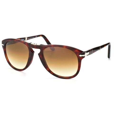 Persol 714 Series Foldable PO 714 24/51 52mm Unisex Havana Frame Brown Gradient Lens Sunglasses