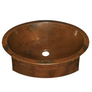 "Native Trails CPS44 Calypso 19"" Copper Undermount Bathroom Sink"