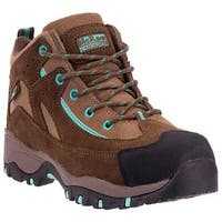 McRae Industrial Women's Composite Toe XRD Hiker MR47311 Brown/Turquoise Suede/Leather