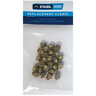 STABILicers Spark-Resistant Replacement Snow & Ice Traction Cleats 25-Pack-Brass