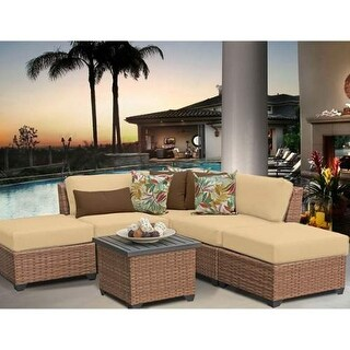 Miseno MPF-LGNA60F Southern California 6-Piece Aluminum Framed Outdoor Conversat (More options available)