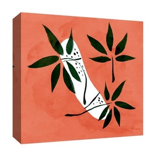 """PTM Images 9-126811  PTM Canvas Collection 12"""" x 12"""" - """"Intense Orange"""" Giclee Leaves Art Print on Canvas"""