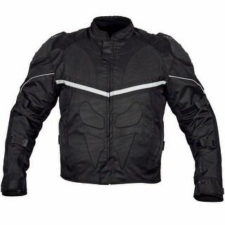 Men Motorcycle Cordura Polyester Waterproof Windproof Jacket Black MBJ067