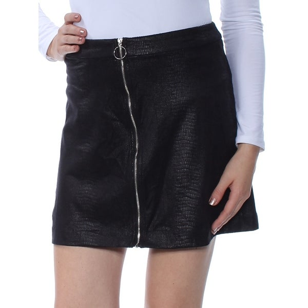 426f561e8 Shop KENSIE Womens Black Faux Suede Lizard-embossed Mini Pencil Party Skirt  Size: L - Free Shipping On Orders Over $45 - Overstock - 27767274