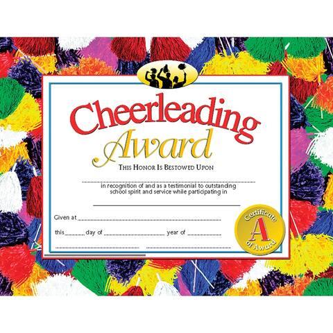 (6 Pk) Cheerleading Award 8.5X11 Certificate 30 Per Pk