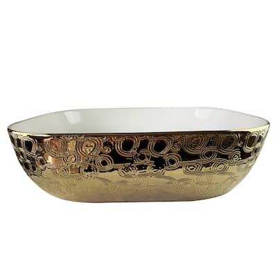 Artes Imperial Golden Vitreous China Vessel Sink