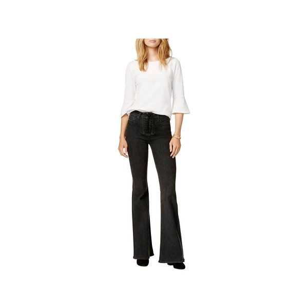 99182e02d7 Shop Hudson Womens Wide Leg Jeans High Rise Flare Leg - Free Shipping On  Orders Over $45 - Overstock - 23147209