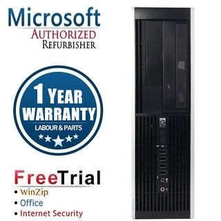 Refurbished HP Compaq 8200 Elite SFF Intel Core I3 2100 3.1G 8G DDR3 320G DVD Win 7 Pro 64 1 Year Warranty - Black