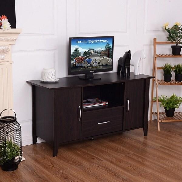 "55/"" TV STAND MEDIA CONSOLE Entertainment Unit Center Furniture Shelves Modern"