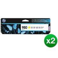 HP 980 Yellow Original Ink Cartridge (D8J09A)(2-Pack)
