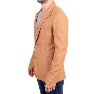 GF Ferre Beige Wool Blend Two Button Blazer - it48-m