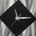 Statements2000 Black / Silver 17-inch Metal Hanging Wall Clock - Prediction Clock - Thumbnail 4
