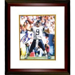 Drew Brees signed San Diego Chargers 8x10 Photo Custom Framed (white jersey pass)