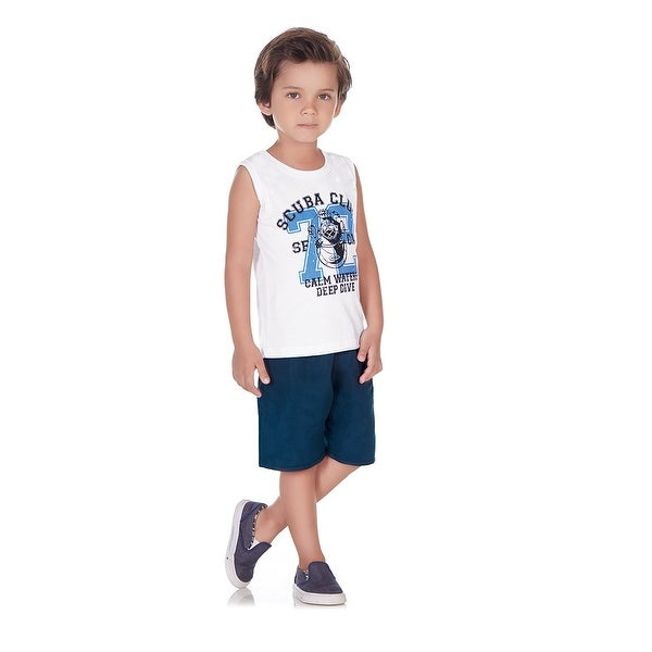 Pulla Bulla Toddler Boy Graphic Tank Top Sleeveless Tee