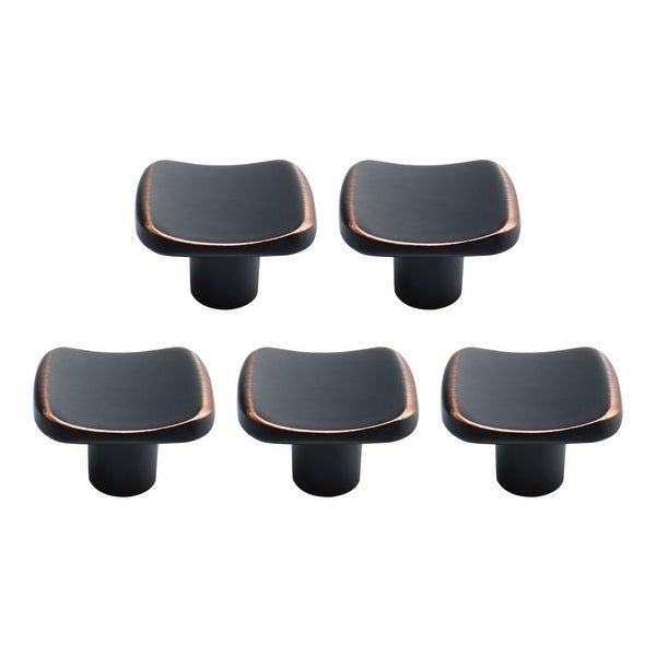 Zinc Alloy Knobs Vintage Handle Door Accessories 30x27mm, Black+Copper Tone 5pcs - Black+Copper Tone