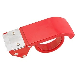 """Unique Bargains Red Handy Metal 2"""" Wide Packaging Sealing Tape Cutter"""