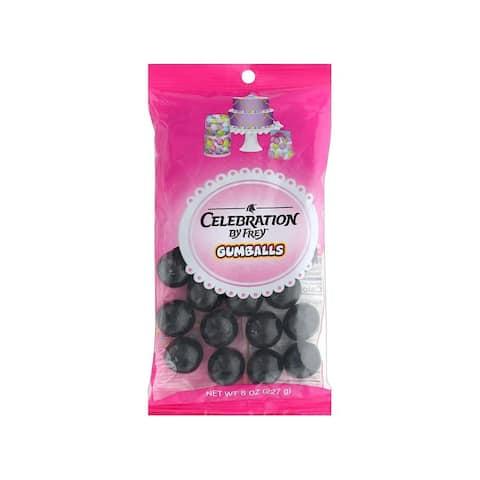 74551 sweetworks celebration gumballs 8oz black
