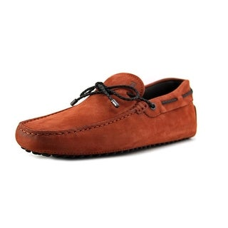 Tod's Laccetto My Colors New Gommini 122 Youth Moc Toe Suede Orange Loafer