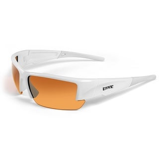 Maxx Sunglasses Stealth 2.0 White Frame HD Amber Lenses