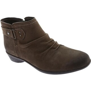 Rockport Women's Cobb Hill Nicole Ankle Boot Spruce Leather