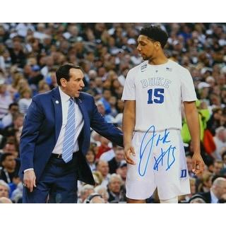 Jahlil Okafor Signed Duke With Coach Mike Krzyzewski 16x20 Photo