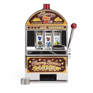 Cherry Sevens Slot Machine Bank with 10 Free Tokens