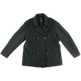 Nautica Mens Wool Blend Double-Breasted Pea Coat - XXL