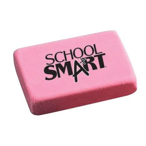 School Smart Large Pink Block Eraser, Pack of 40