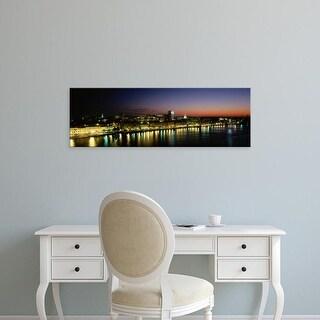 Easy Art Prints Panoramic Images's 'Evening, Savannah, Georgia, USA' Premium Canvas Art