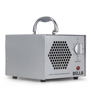 Della Commercial Air Ozone Generator 5000mg & Air Purifier Natural Odor Remover, 5000mg -Silver