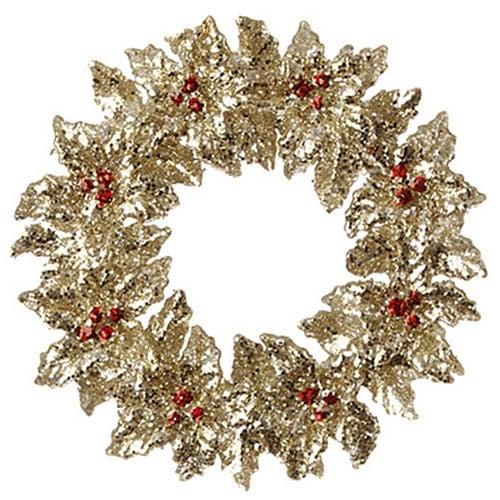 "RAZ Imports - 5"" Holly Wreath Ornament"