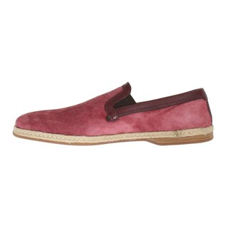 Dolce & Gabbana Pink Bordeaux Suede Leather Loafers - eu44-us11