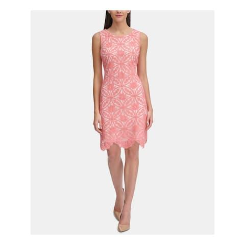 TOMMY HILFIGER Pink Sleeveless Above The Knee Sheath Dress Size 6