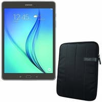 "Samsung Galaxy Tab A SM-T550 16 GB Tablet - 9.7"" Black Bundle"