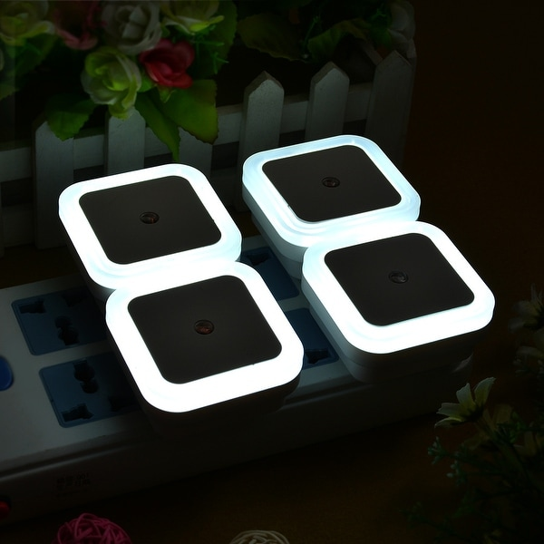 Auto White LED Light Sensor Control Bedroom Night Lights Bed Lamp