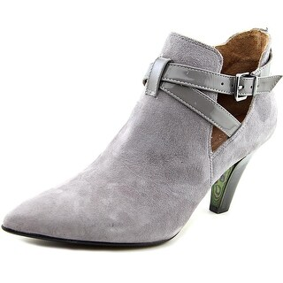 Donald J Pliner Tamy Women Pointed Toe Suede Gray Ankle Boot