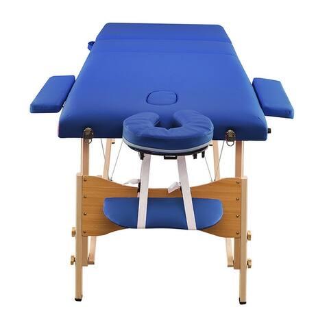 Saloniture Folding Portable Beauty Massage Table Set 70CM Wide